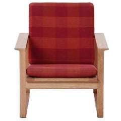 Danish Modern Sled Based Lounge Chair with Dovetail Joinery by Børge Mogensen