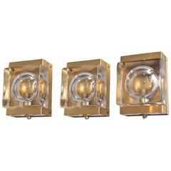 Set of Three Wall Lights by Vitrika
