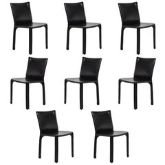 Mario Bellini Set of Eight Model 412 Cab Chairs by Cassina