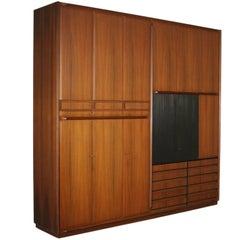 Wardrobe Rosewood Veneer Vintage Manufactured in Italy 1960s