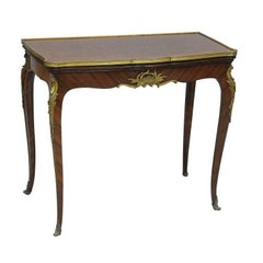 Ormolu Mounted Parquetry 19th Century Console Table by Linke