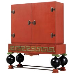 Large Red Cabinet by Paul Boberg