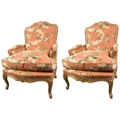 Pair of Louis XV Style Bergeres