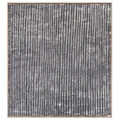 Contemporary Weaving Textile Fiber Art, Gray Waves by Mimi Jung