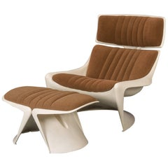 Meteor Lounge Chair and Ottoman by Steen Ostergaard for Cado