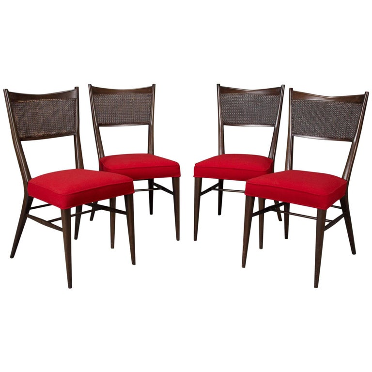 Set of Four Irwin Collection Dining Chairs by Paul McCobb for Directional For Sale