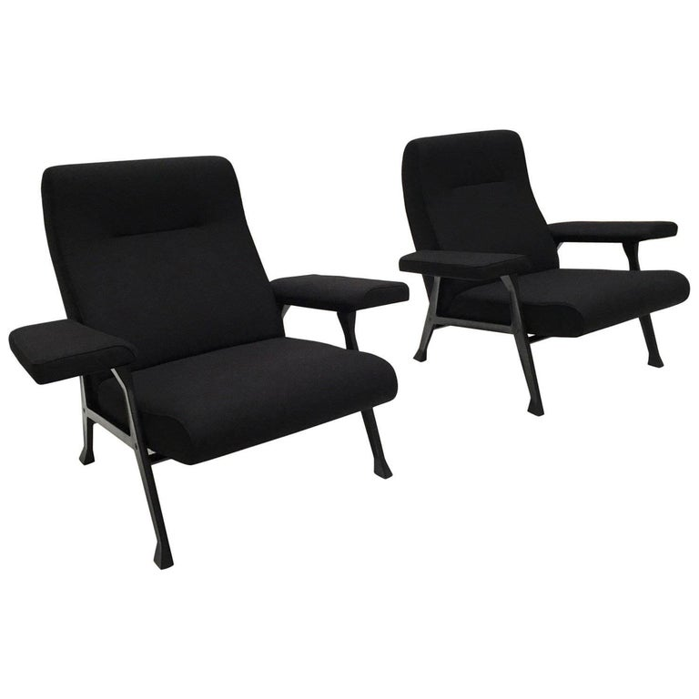 Rare Roberto Menghi 'Hall' Lounge Chairs, Arflex ,1958, 'Compasso D'oro', 1959 For Sale