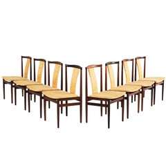 Danish Set of Eight Rosewood Dining Chairs