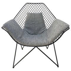 Rare and Beautiful Sculptural 'DU43' Lounge Chair by Gastone Rinaldi, Rima, 1953