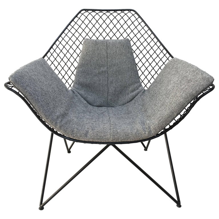 Rare and Beautiful Sculptural 'DU43' Lounge Chair by Gastone Rinaldi, Rima, 1953 For Sale