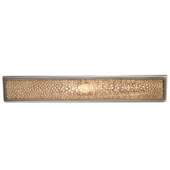 """Elipse"" Flat Polished Nickel Cabinet Pull with Shagreen Inlay"