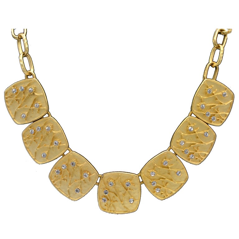 Kenneth Lane Gold Dipped Vintage Costume Necklace With Earrings For