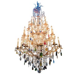 Louis XIV Style Multicolored Crystal Chandelier