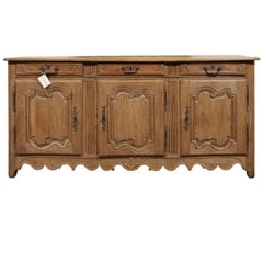 Early 19th Century Pale Oak Enfilade from Brittany