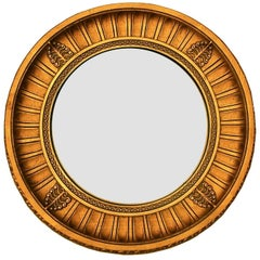 Mid 20th century French Giltwood Convex Mirror