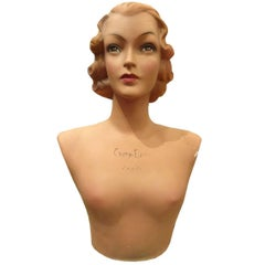 1930's Boutique Display Mannequin Head