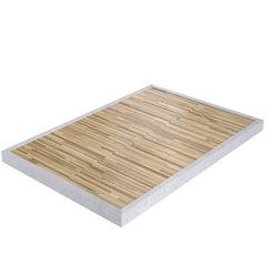 Salvatori Ishiburo Shower Tray in Bianco Carrara & Teak Wood by Kengo Kuma