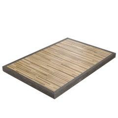 Salvatori Ishiburo Shower Tray in Pietra d'Avola & Teak Wood by Kengo Kuma