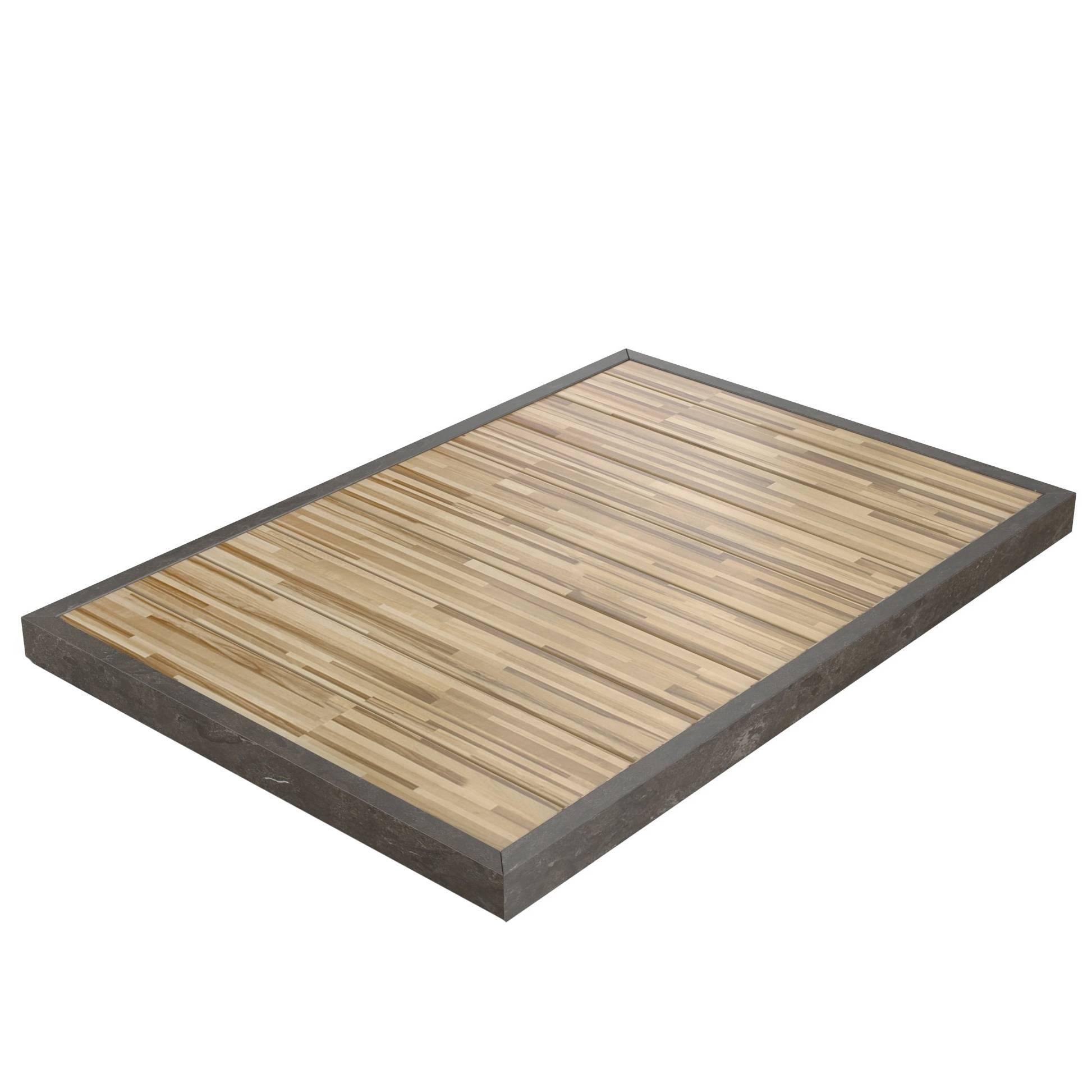 Salvatori Ishiburo Shower Tray In Pietra Du0027Avola U0026 Teak Wood By Kengo Kuma  For