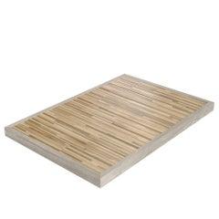 Salvatori Ishiburo Shower Tray in Silk Georgette® & Teak Wood by Kengo Kuma
