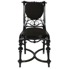 19th Century Austrian Ebonized Thonet Side Chair