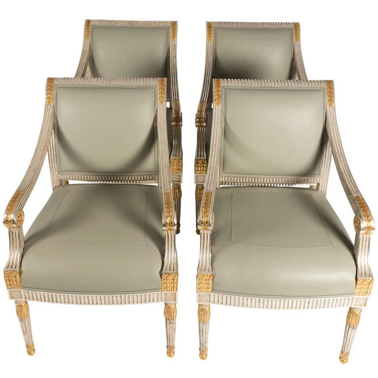 Set of Four Mid-20th Century Louis XV Style Armchairs
