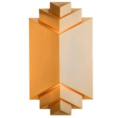 Pale Gold Wall Light Phénix designed Joseph Dirand for Ozone