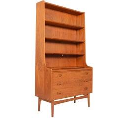 Danish Modern Midcentury Bookcase or Secretary in Teak by Johannes Sorth #3