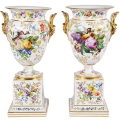 Large Pair of Jacob Petit Porcelain Urns, 19th Century