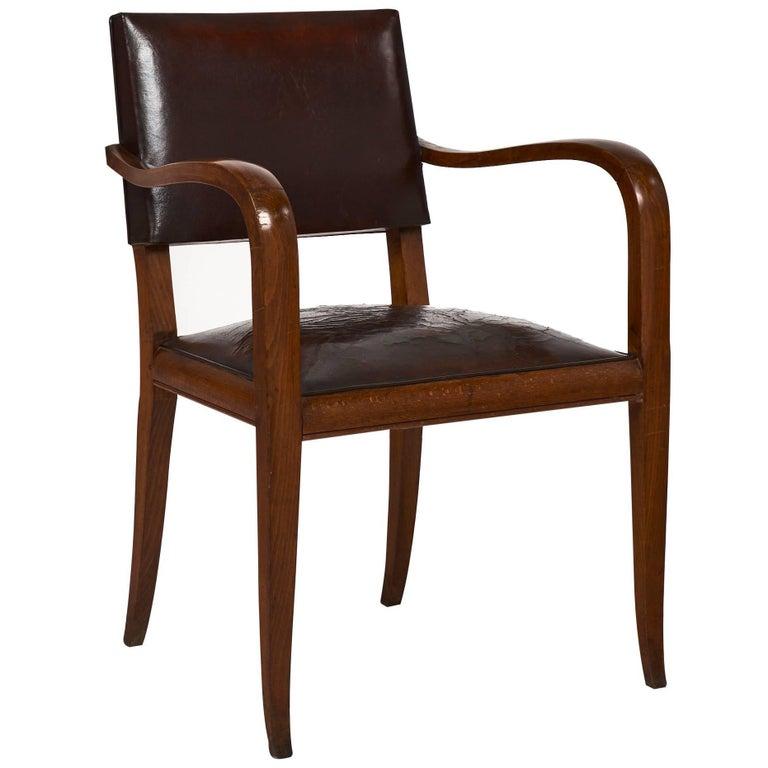 Art Deco Period French Bridge Chair