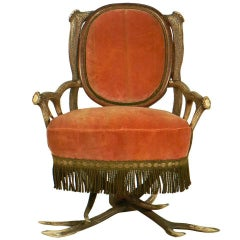 Antler Easy Chair, Austria, circa 1880