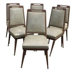 6 Italian Mid Century Dining Chairs