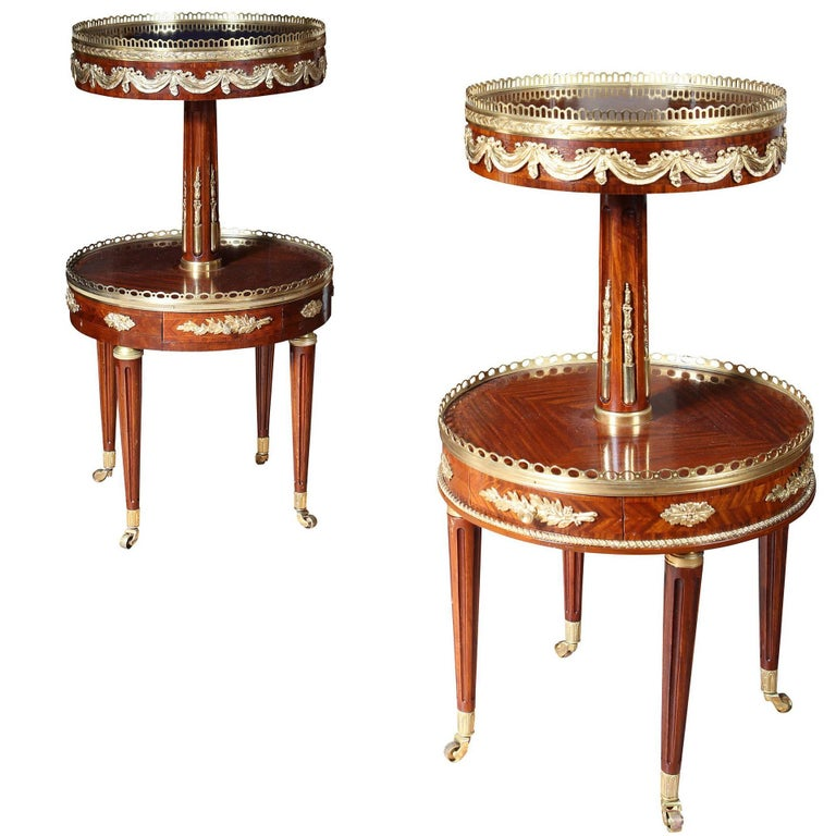 Near Pair of Louis XVI Style End Tables  For Sale