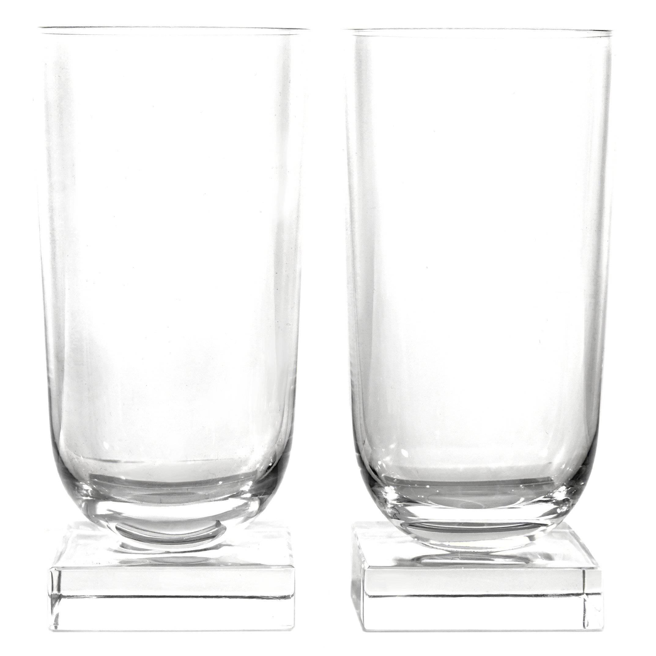 12 Art Deco Libbey Knickerbocker Water Glasses c1933 American