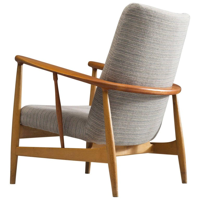 Finn Juhl Easy Chair in Oak and Teak, 1953