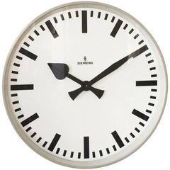 Large Siemens Factory or Workshop Wall Clock
