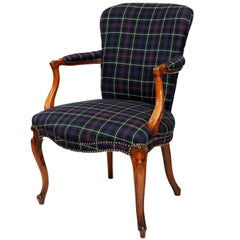 English Mid-18th Century, George III Fruitwood Armchair, circa 1760