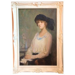 Joseph Sacks, Impressionist Portrait of a Lady with a Black Hat