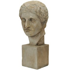 French Mid-19th Century Neo Classical Museum Plaster Bust, circa 1860