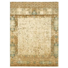"""Windswept"" Beige Hand-Knotted Area Rug"