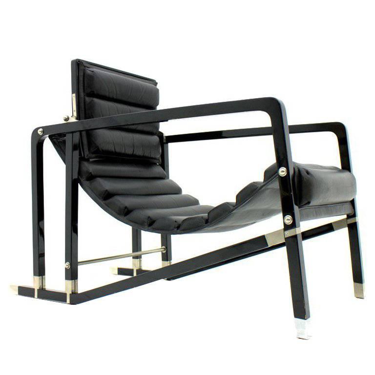 Eileen Gray Transat Lounge Chair By Ecart International, 1980s