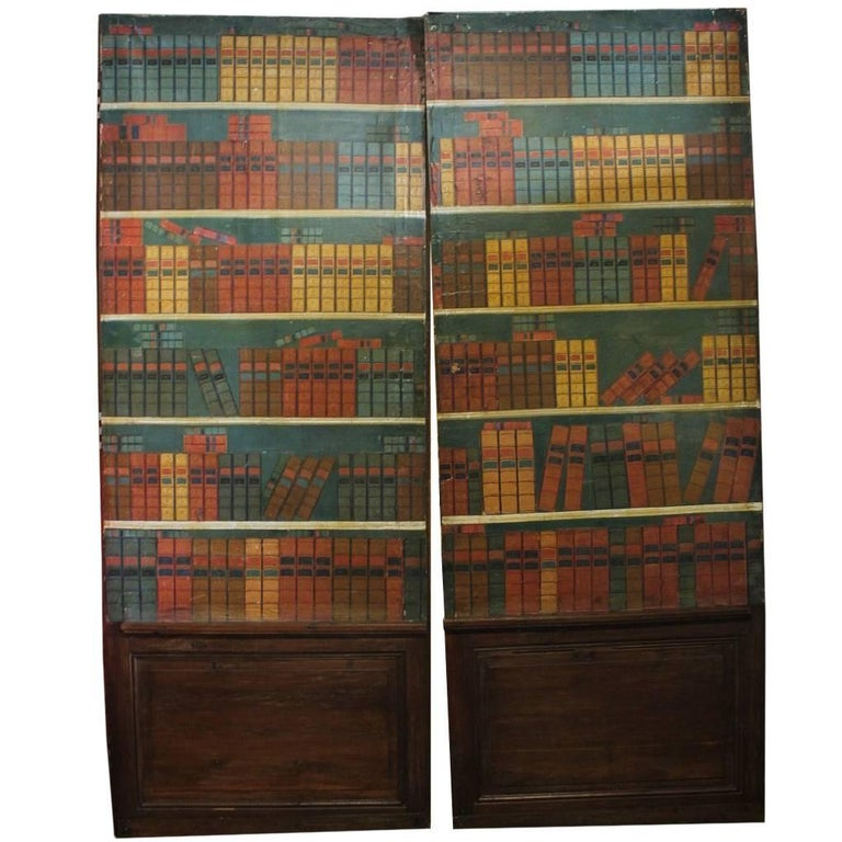 Antique French Secret Passage Way Double Doors For Sale