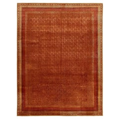 """Gulnar"" Rust Red Hand-Knotted Area Rug designed by Tarun Tahiliani"