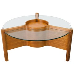 1960s Nathan Plywood and Glass Coffee Table