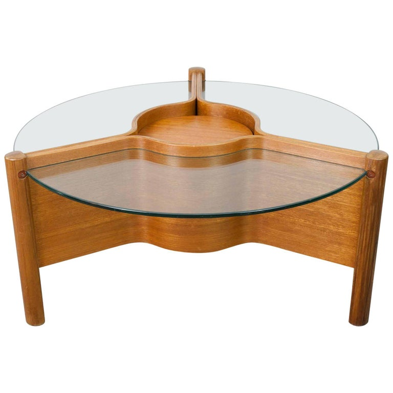 1960s Nathan Plywood And Glass Coffee Table For