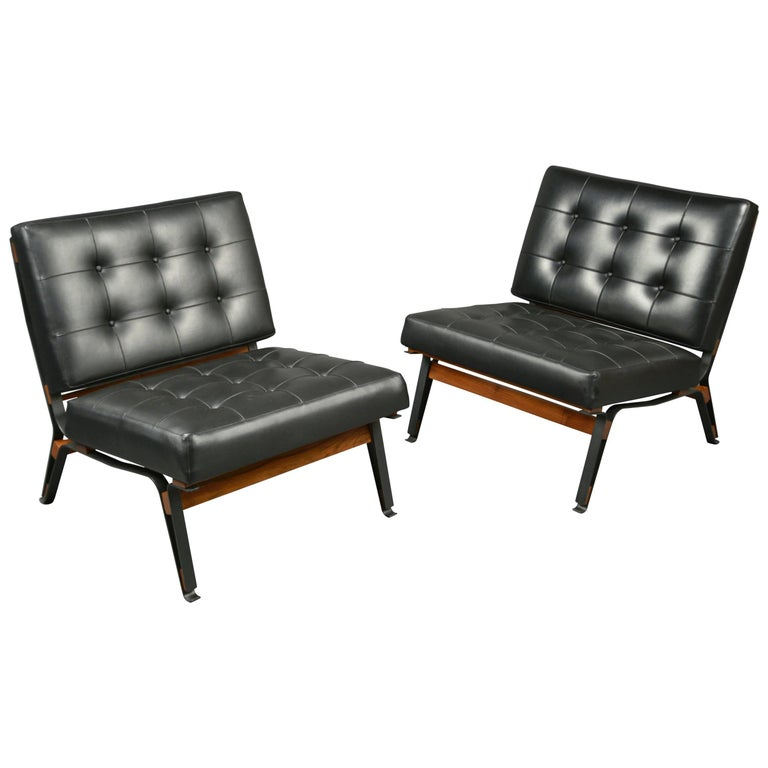 Pair of Chairs by Ico Parisi, Cassina Production, Italy, circa 1958 For Sale