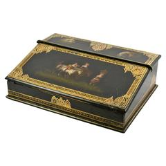Gilt and Papier Maché Lap Desk