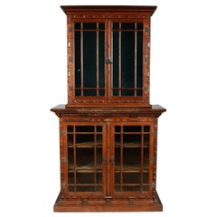English Arts & Crafts Two-Part Bookcase