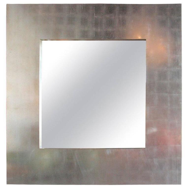 Italian Oversized Silver Leaf Mirror