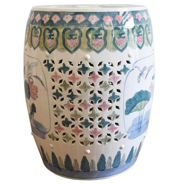 white garden landscape blue com home porcelain amazon dp kitchen stool furniture oriental